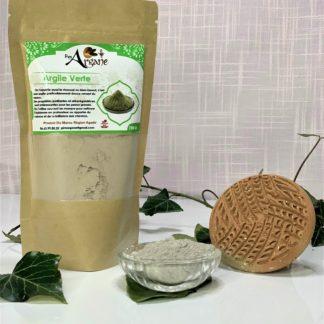 Argile verte poudre naturel bio Maroc - Pimargane